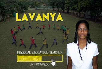 Lavanya wants to teach sportsmanship as a P.E. Teacher!