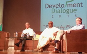 Chairman Madhu Pandit Dasa speaks at Development Dialogue 2015