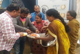 Akshaya Patra serves lunch in Coorg