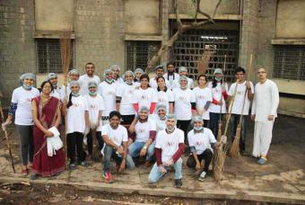 Cleanliness Drive organised by AIKYA
